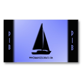 Blue Vacation / Travel Business Card