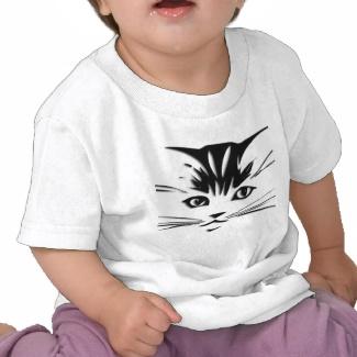 Cat Face  Baby T  Shirt
