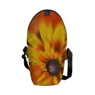 Mystic Yellow Flower Mini Messenger Bag
