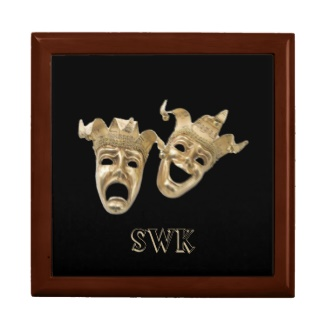 Comedy and Tragedy Monogram Mask Box Jewelry Boxes