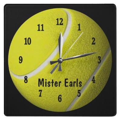 Tennis Ball Sport Wall Personalize Clock