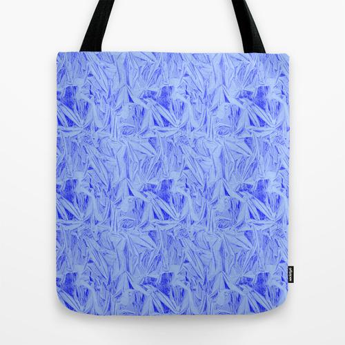 blue cut glass tote