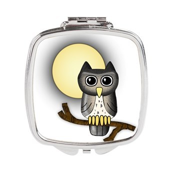 full_moon_owl_square_compact_mirror
