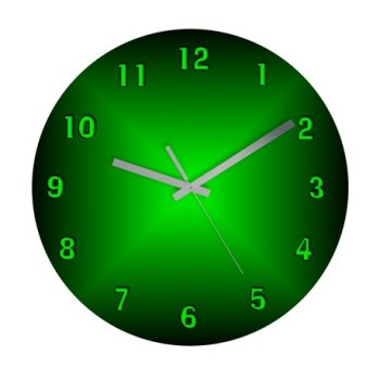 green_burst_frameless_wall_clock