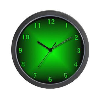 green_glow_wall_clock