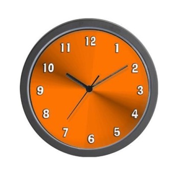 Orange Glow wall clock