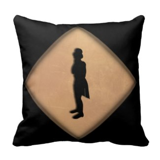Antique Lady and Gentleman Throw Pillow
