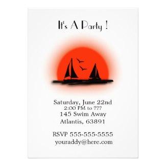 Boat Party Invitations