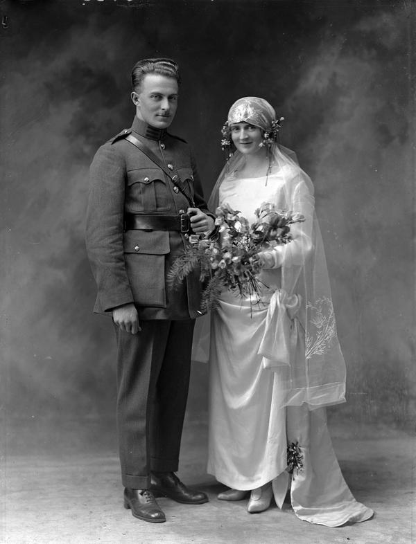 WWI Military Wedding Photograph