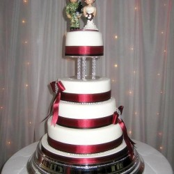 Military theme wedding cake idea