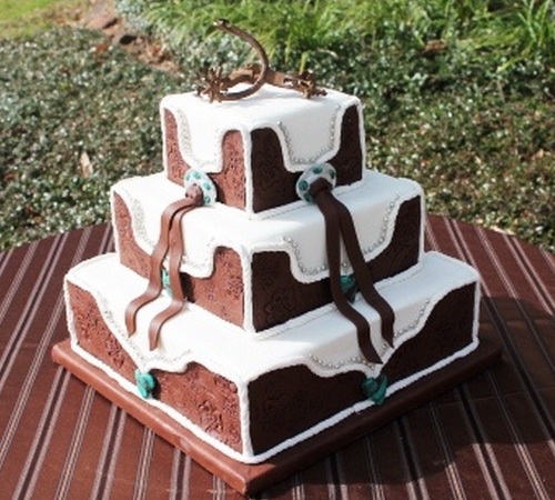 Western Wedding Cake Ideas: Square-western-wedding-cake-pictures