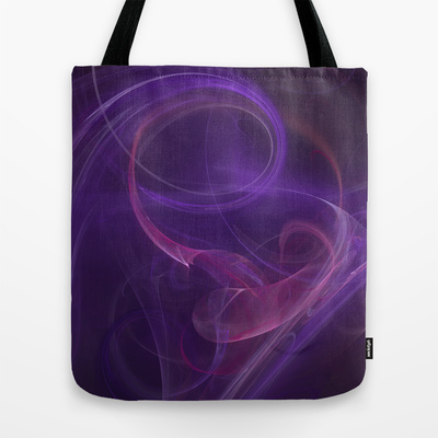 Misty purple tote bag