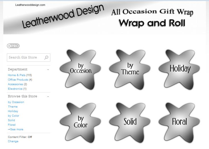 Gift wrap shop