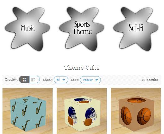 Gift wrap by theme