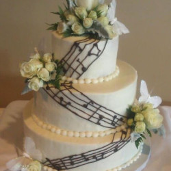 music notes wedding cake on Music theme wedding page