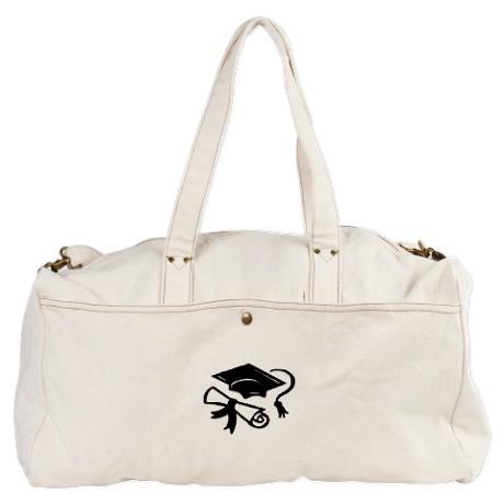 Graduation Cap Duffel Bag by Leatherwooddesign