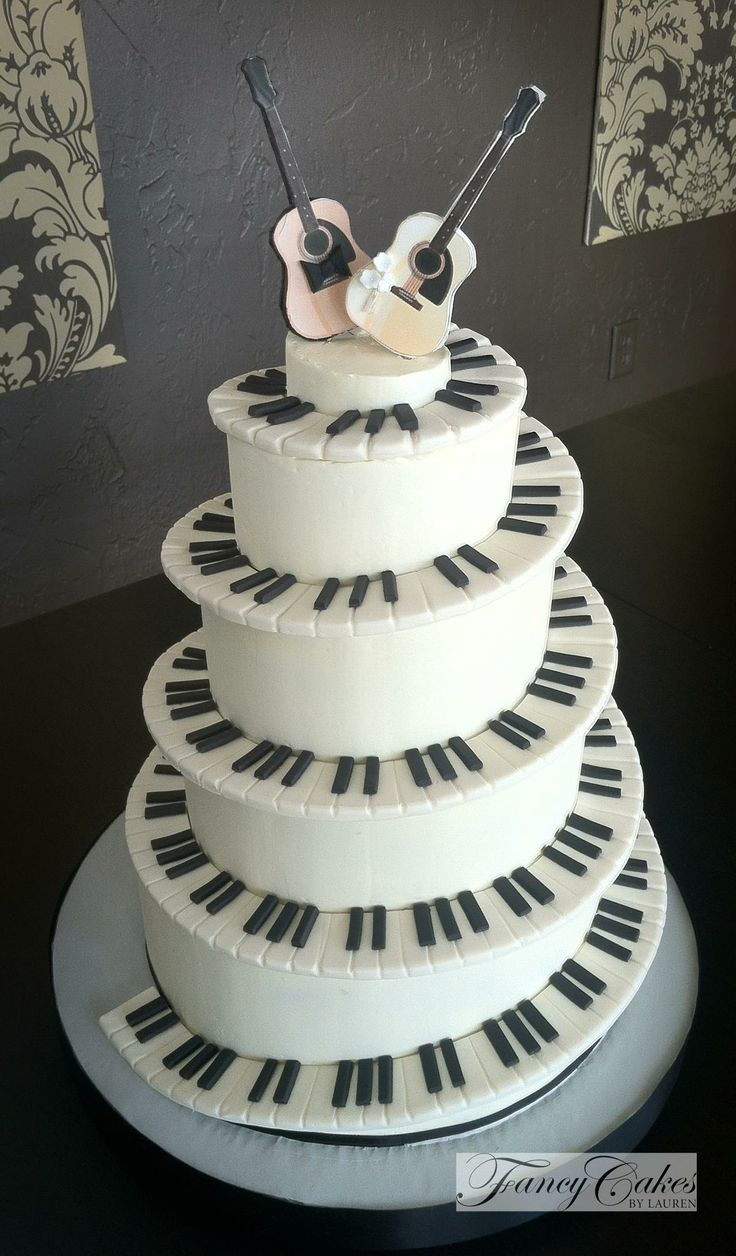 Piano Wedding Music Cake Home
