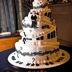 music theme wedding cake