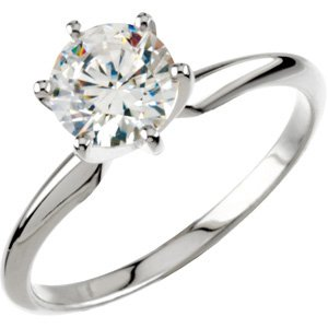 round shape engagement ring