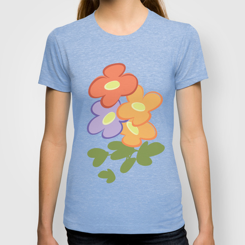 Cute Flowers T-shirt by Leatherwood Design | Society6