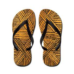 abstract bamboo flip flops