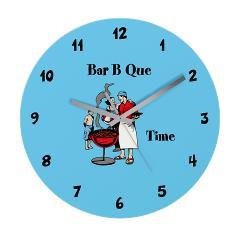bar b que clock