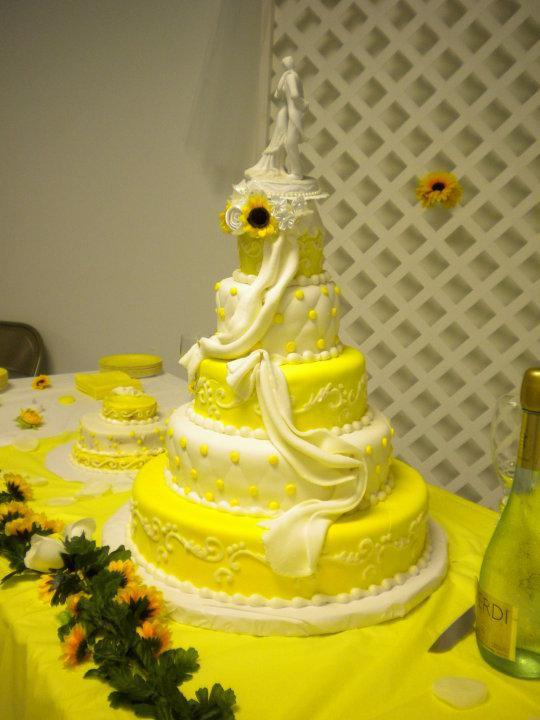 Yellow wedding cake on yellow theme wedding pages 8 | Home