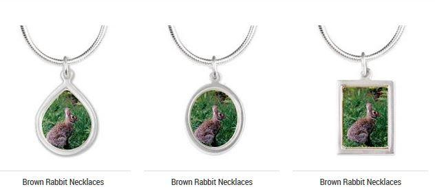 brown rabbit necklace