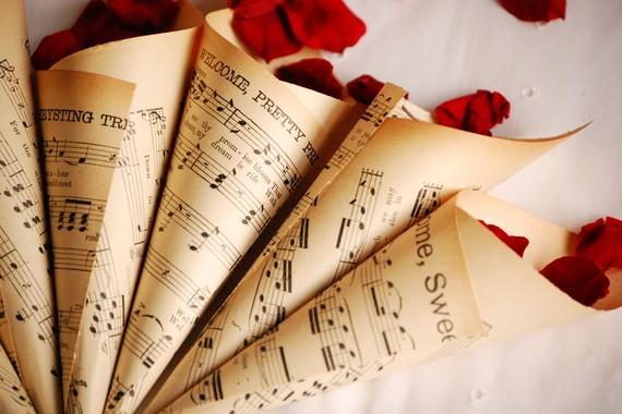 Music Wedding Theme Invitation Dinner Choice Rsvp Save