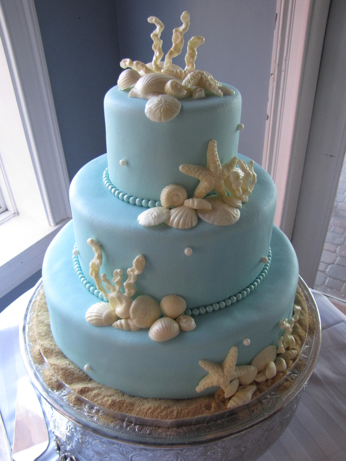 Beach Theme Wedding Cake Pages Home