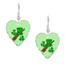 Irish leprechaun hat earrings