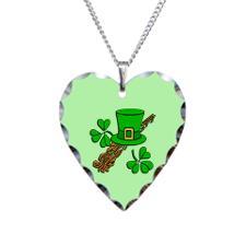 Irish leprechaun hat necklace