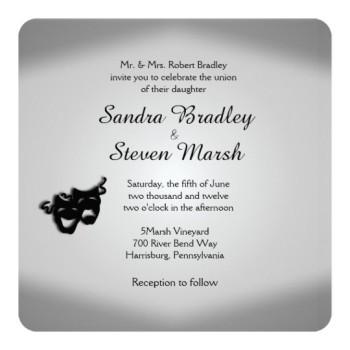 Theater theme wedding invitation. http://alturl.com/oeruv