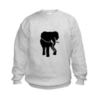 african_elephant_kids_sweatshirt