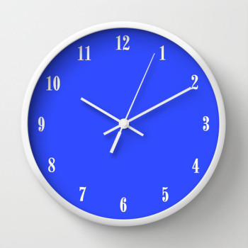 blue clock white numbers