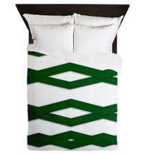 Green zigzag duvet cover