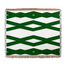 Green zigzag throw blanket