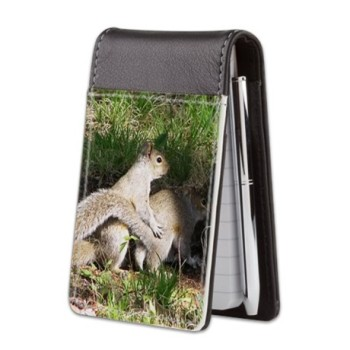squirrel small leather notepad
