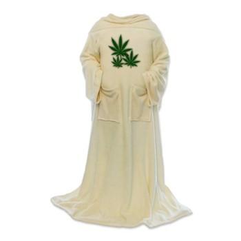 marijuana leaf blanket wrap