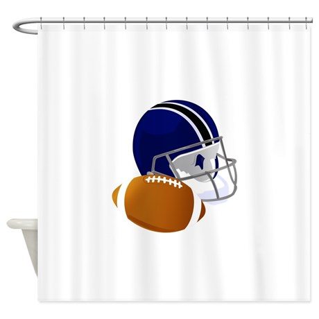 football_helmet_and_ball_shower_curtain