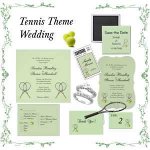 tennis wedding set