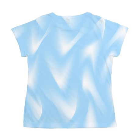 Light Blue and White Waves Women's All Over Print by AllOverTShirts