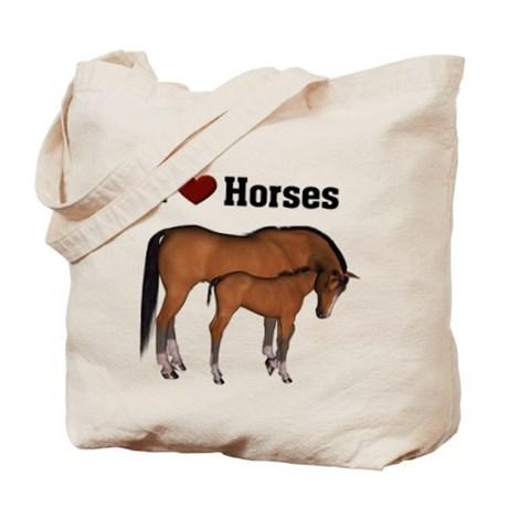 Love My Horse Tote Bag by stylesplus