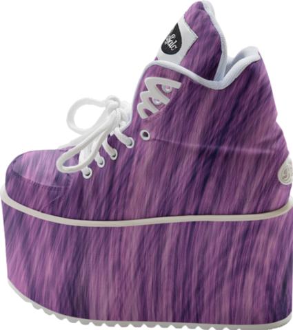 Purple Fir Fractal platform sneakers