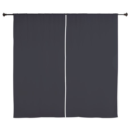 Solid Black Curtains