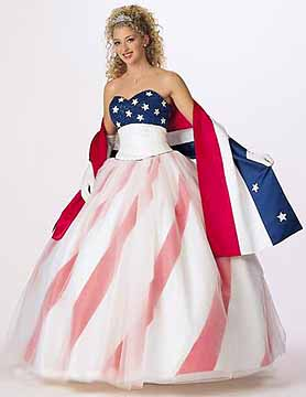american flag wedding gown