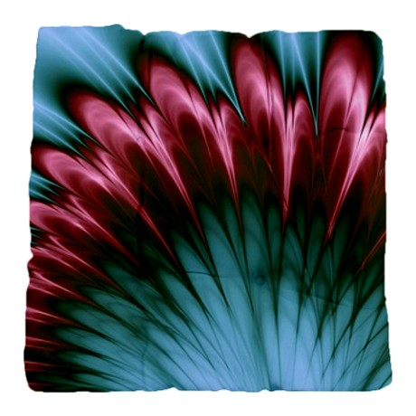 Aqua and pink fractal glory Tufted Chair Cushion by Admin_CP11861778