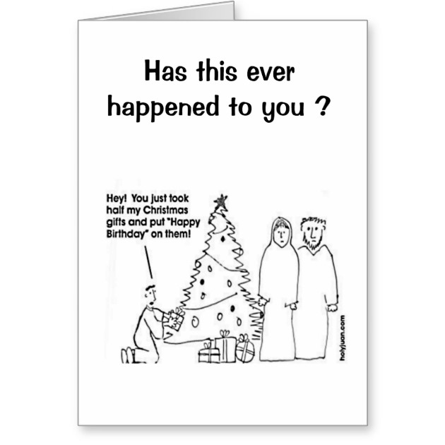 Funny Christmas Birthday Card Zazzle