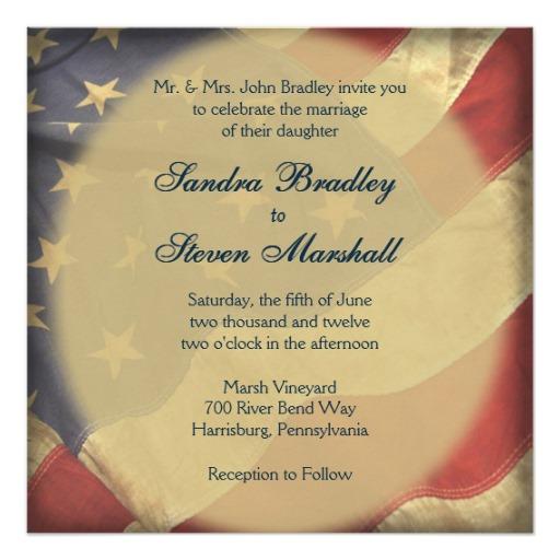 Marine Wedding Invitations: Military Wedding Invitations