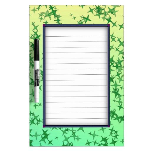 Green Stars Dry-Erase Board